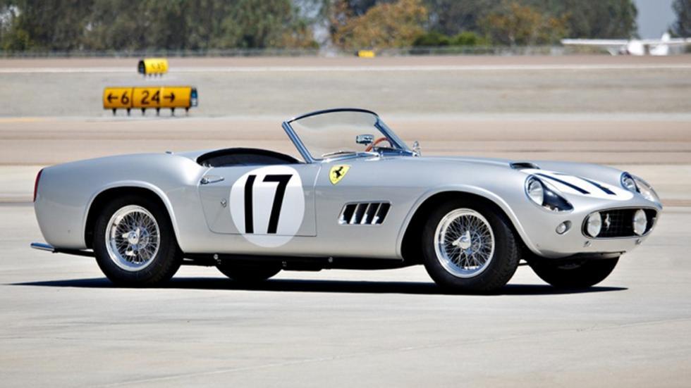 coches-más-caros-subastados-monterey-Ferrari-250-GT-California-LWB-Alloy-Spider-