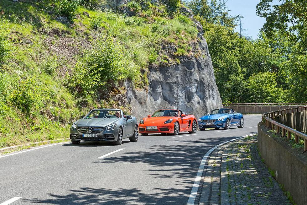 Comparativa: BMW Z4/Mercedes-AMG SLC 43/Porsche 718 Boxster