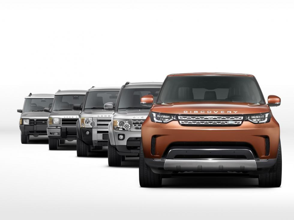 Land Rover Discovery 2017 frontal evolución