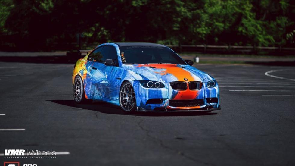 BMW E92 M3 vinilado agua y fuego