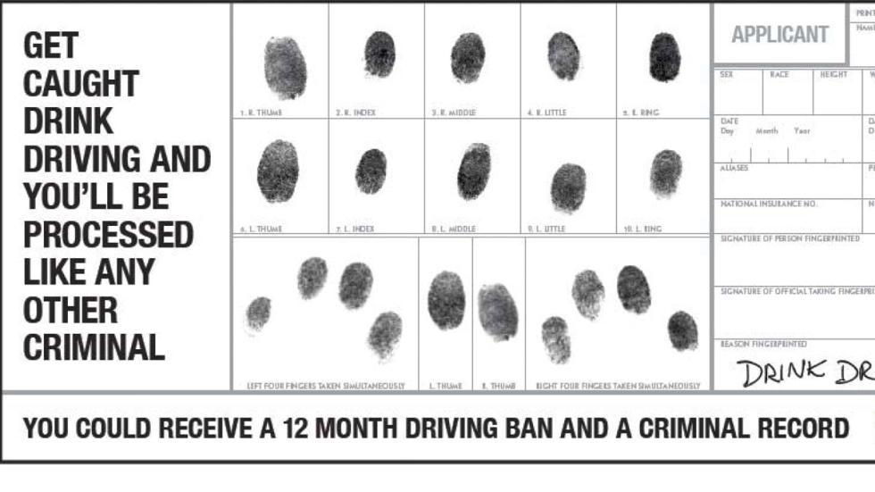si vas bebido al volante, serás tratado como un criminal