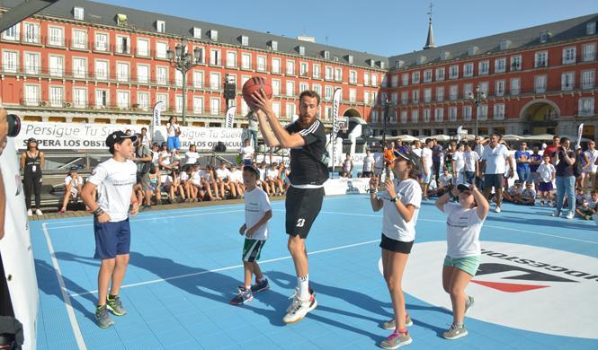 sergio rodriguez baloncesto madrid niños