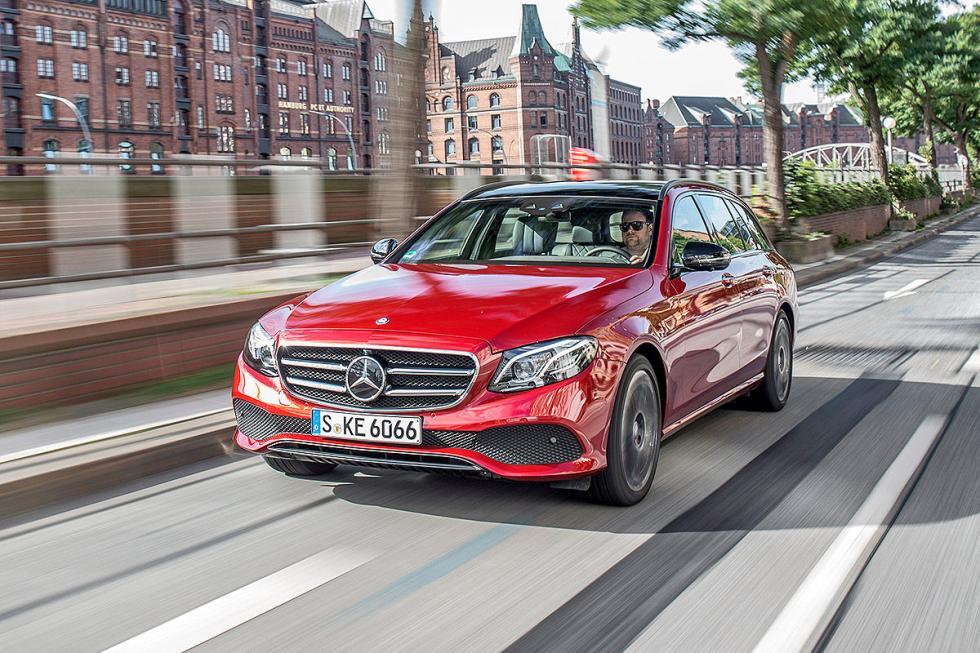Prueba: Mercedes Clase E Estate 2016 ciudad