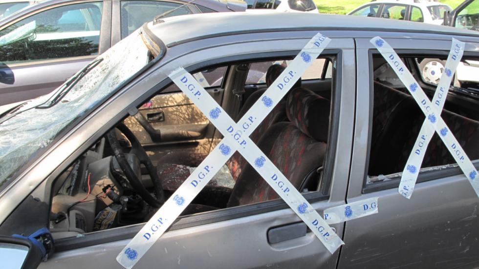 Policía precinta el coche abandonado