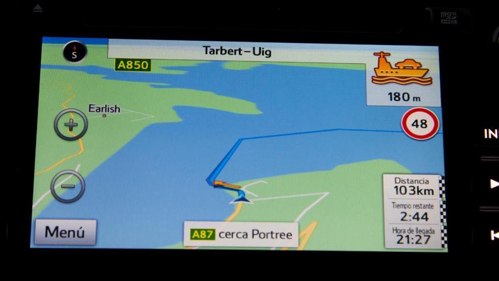 Subaru Outback ferry navegador
