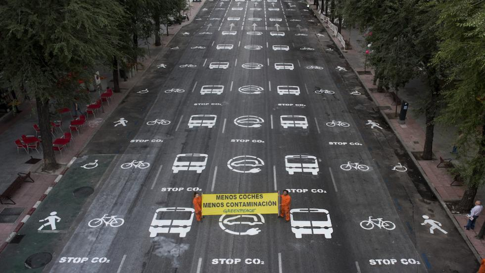 Greenpeace-Bravo-Murillo-Madrid-Día-sin-coches