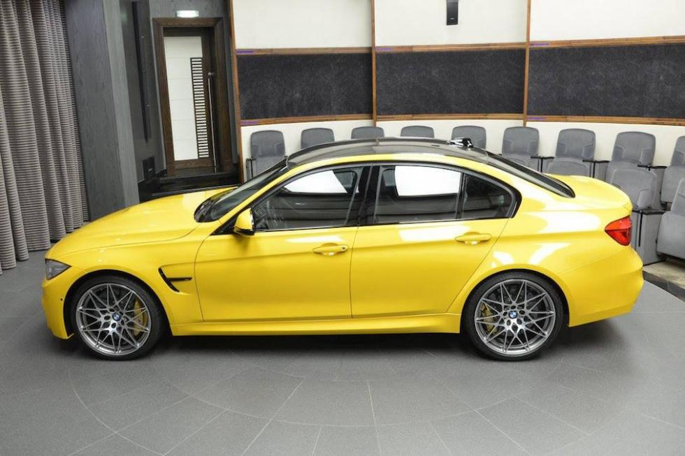 BMW M3 amarillo exclusivo