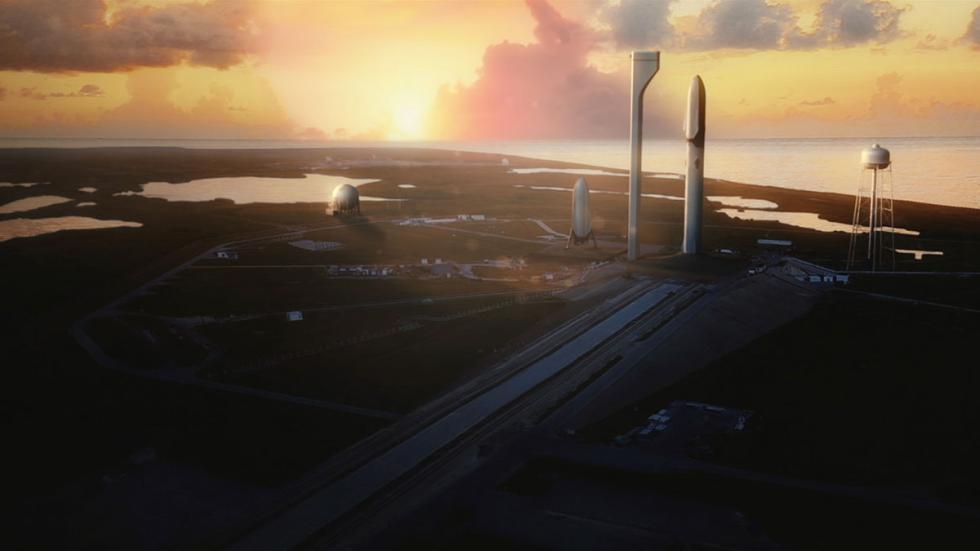 Para lanzar el los cohetes de SpaceX