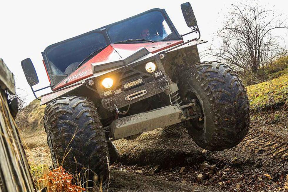 Monster Ghe-O Rescue: el doble de grande que un Hummer H1, 3,2 toneladas y hasta