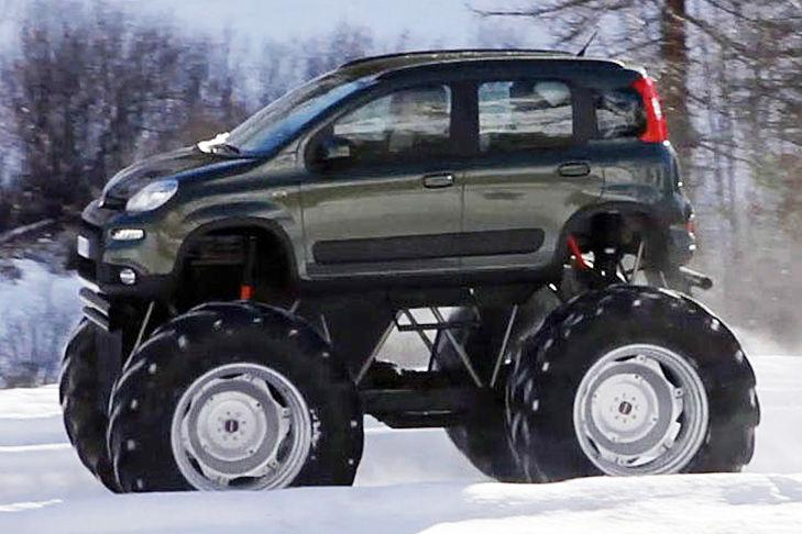 """El """"Bigfoot-Panda"""" solo se usó para un anuncio, pero existe. Sobre ruedas con un"""