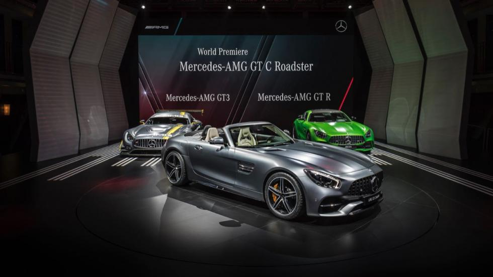 Mercedes AMG GT C Roadster exposición