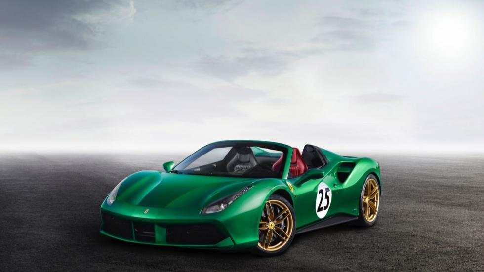 La joya verde (Ferrari 488 Spider)