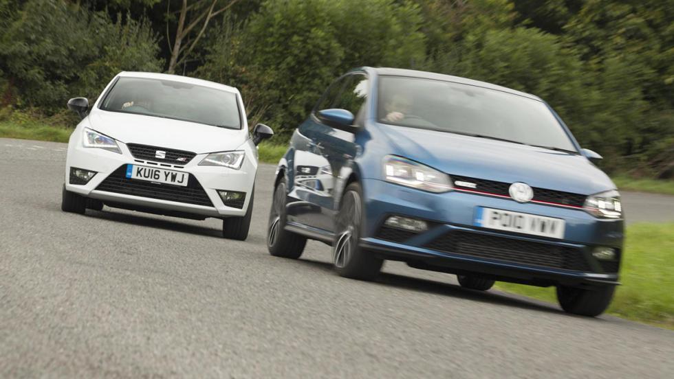 Duelo de pequeñines: Volkswagen Polo GTI contra SEAT Ibiza Cupra