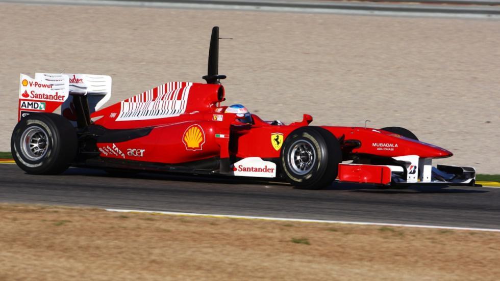 Los monoplazas de Fernando Alonso en la F1: Ferrari F10