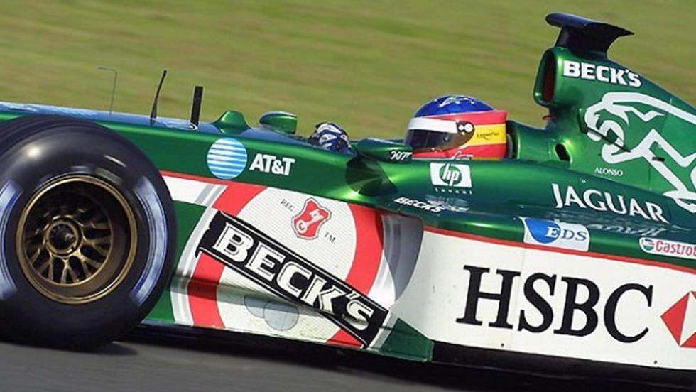 Los monoplazas de Fernando Alonso en la F1: El oventense prueba el Jaguar-Cosworth en Silverstone 2002