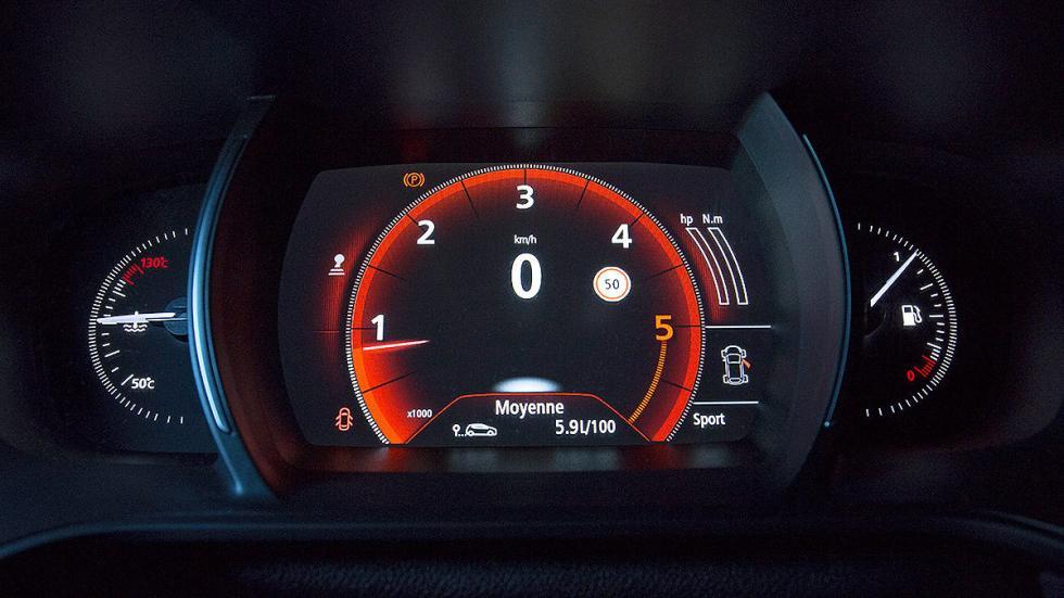 Prueba: nuevo Renault Mégane 2015 velocímetro rojo