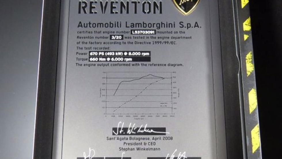 Lamborghini Reventón datos