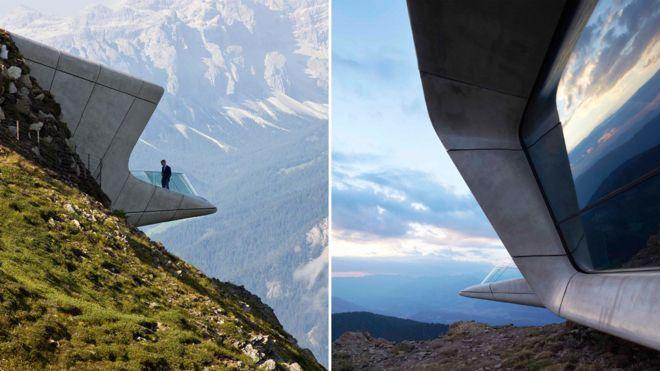 El Museo de la Montaña Messner, en Corones, Italia