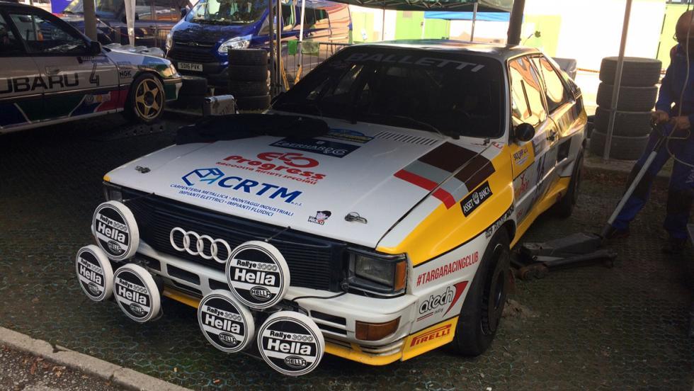 Un Audi Quattro no puede faltar en una prueba como ésta.