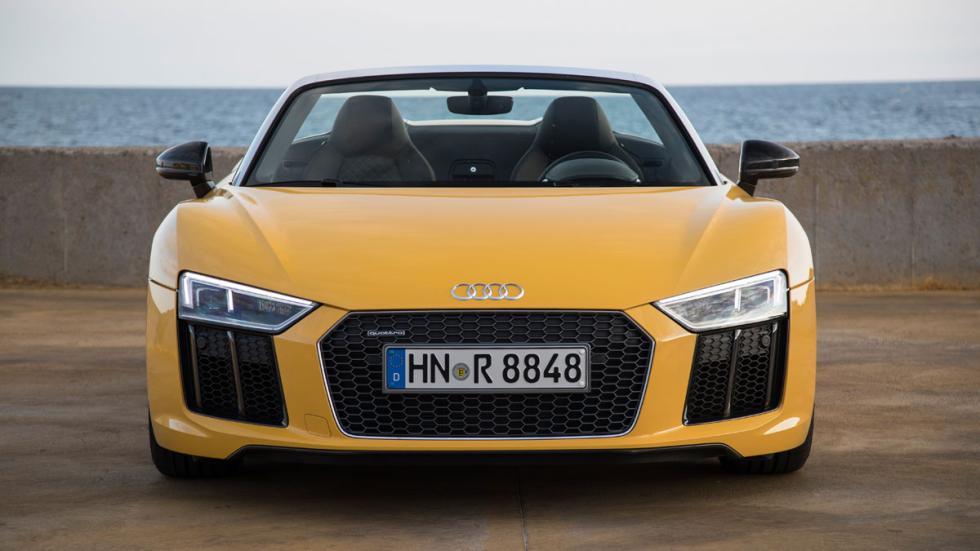 Prueba Audi R8 V10 Spyder 2017 frontal