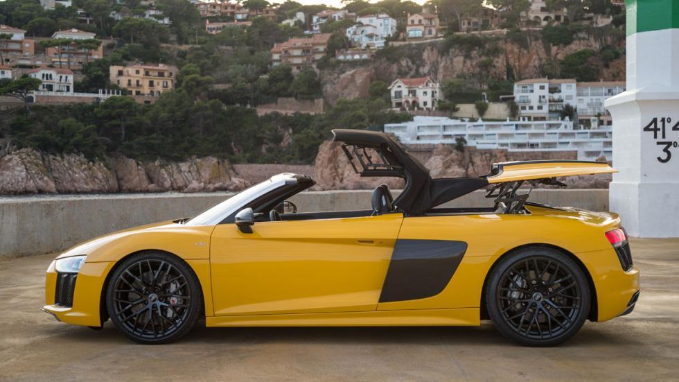 Prueba Audi R8 V10 Spyder 2017 techo