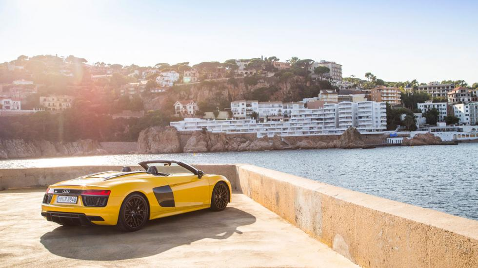 Prueba Audi R8 V10 Spyder 2017 trasera