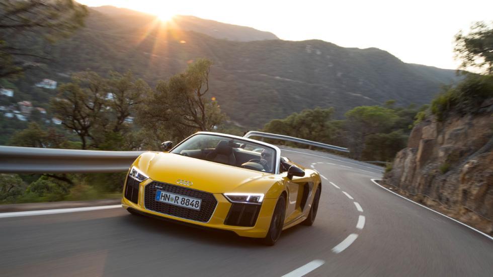 Prueba Audi R8 V10 Spyder 2017 curvas