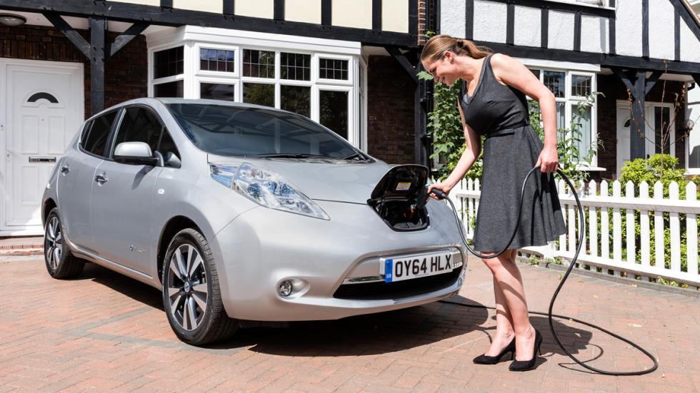 Resultado de imagen de coches electricos repostando en casa