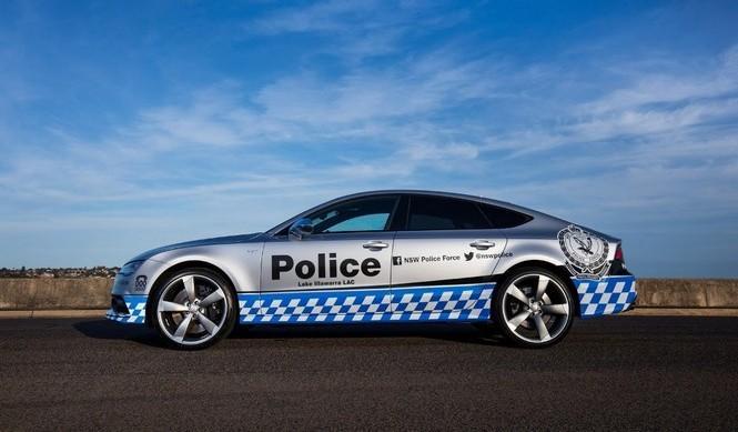 Audi S7 policía australiana