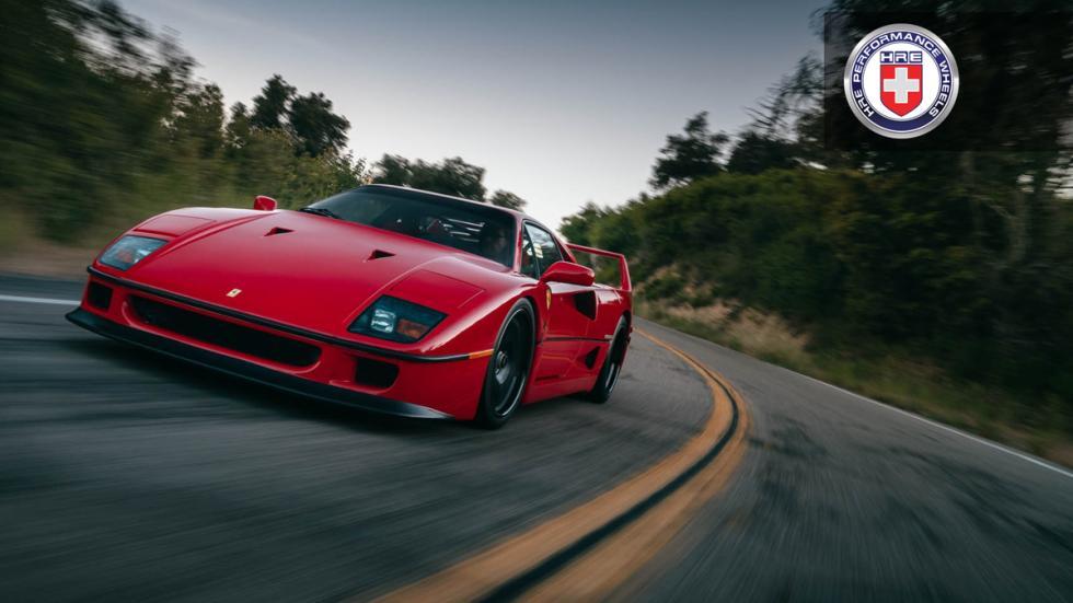 Ferrari F40 llantas HRE delantera movimiento
