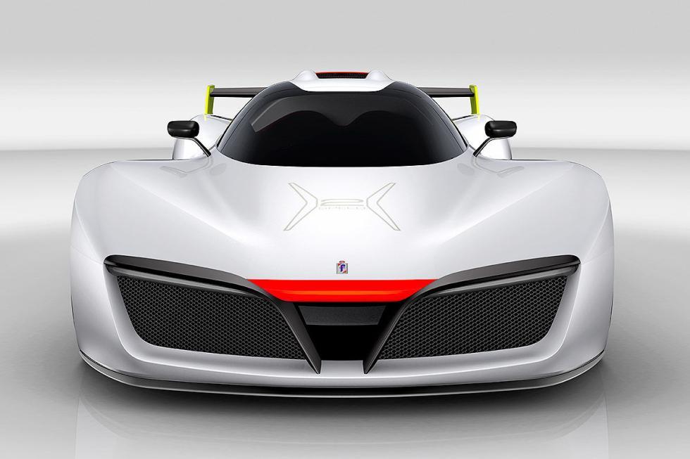 Pininfarina H2 Speed. En 2018. Movido por hidrógeno. De 0 a 100 km/h en 3 s. 300