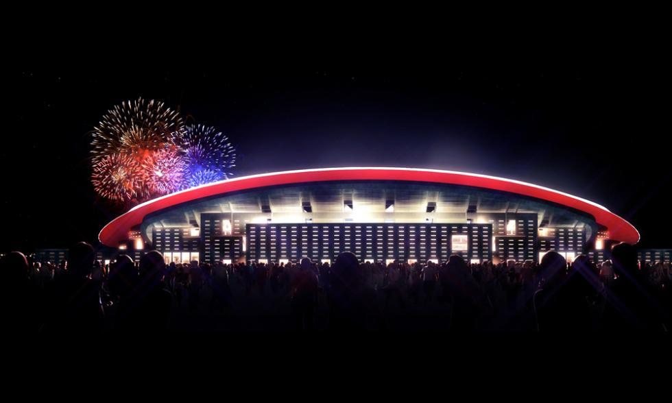 nuevo estadio atletico madrid palcos iluminados