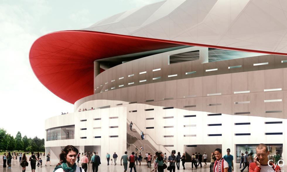nuevo estadio atletico madrid palcos partido