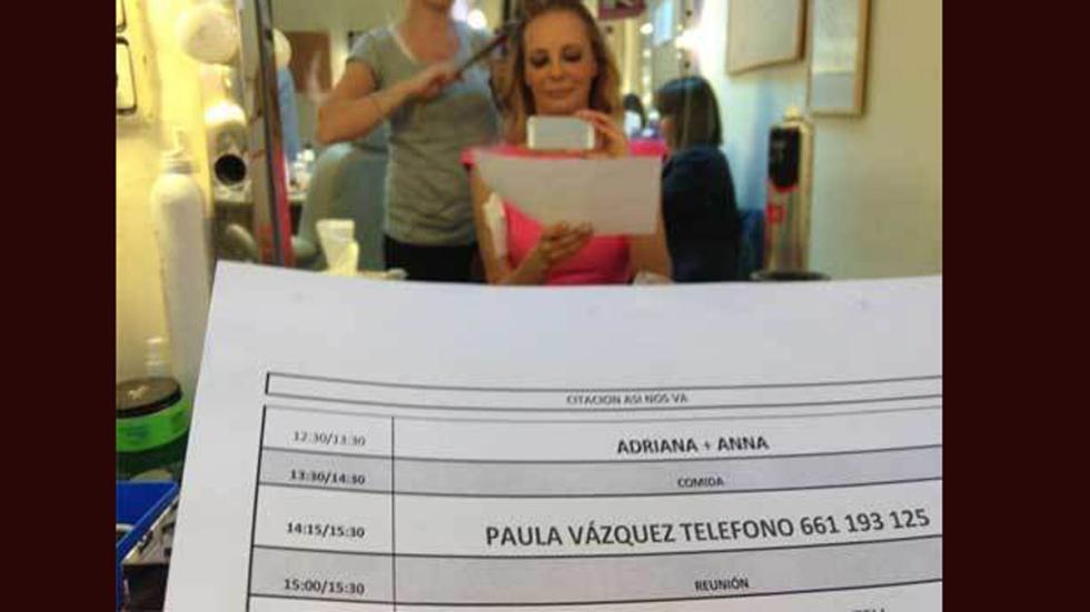 Paula Vázquez publicó sin querer su número de teléfono.