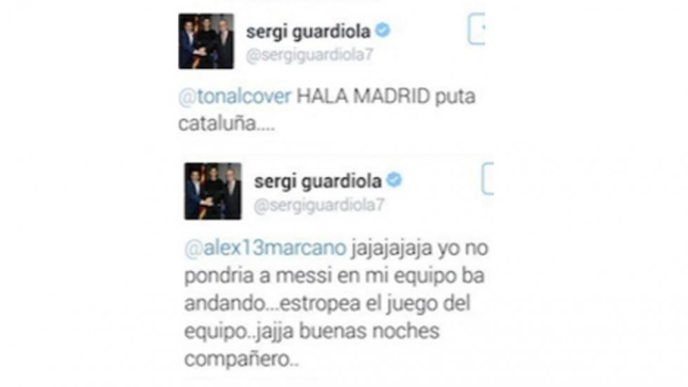 Sergi Guardiola pagó caro estos tuits.