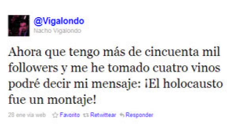 Los seguidores de Nacho Vigalondo no perdonaron esta broma del cineasta.