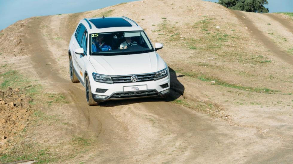 VW Tiguan en el trazado todoterreno del Jarama
