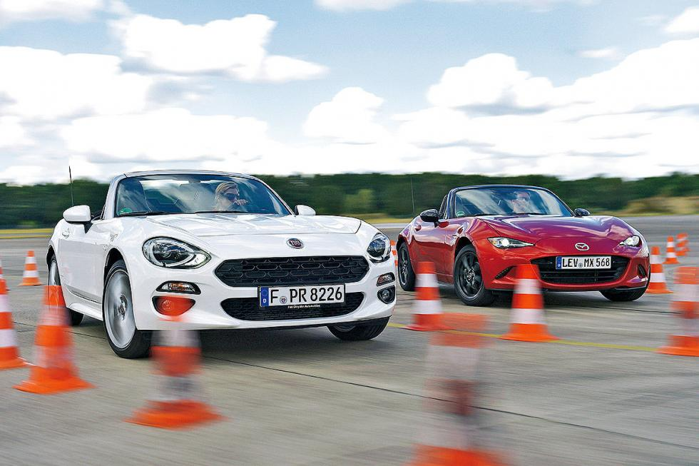 Duelo de hermanos: Fiat 124 Spider vs Mazda MX-5