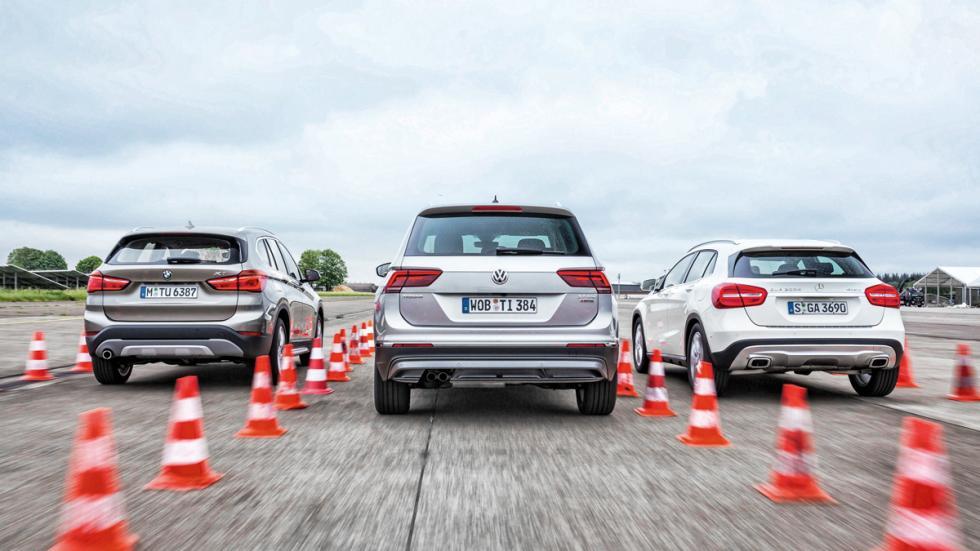 VW Tiguan, Mercedes GLA, BMW X1 trasera