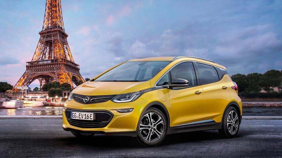 Opel Ampera-e autonomía coches eléctricos amarillo París