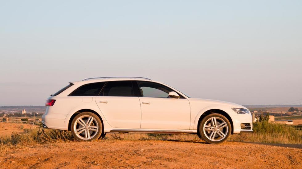 Prueba Audi A6 Allroad Bi-TDi crossover lujo suv blanco tierra