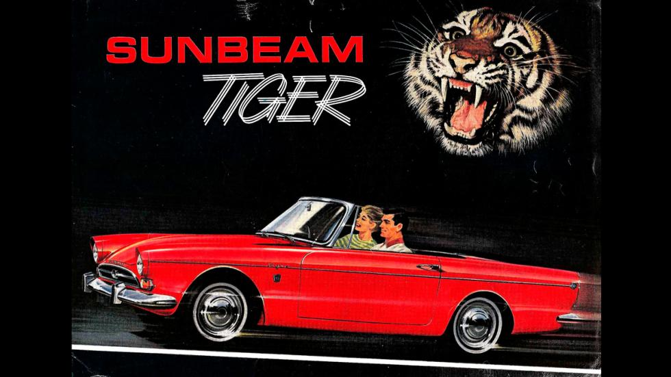 Cartel publicitario Sunbeam Tiger V8