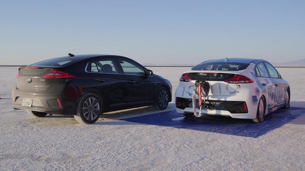 Hyundai Ioniq Hybrid récord velocidad zaga