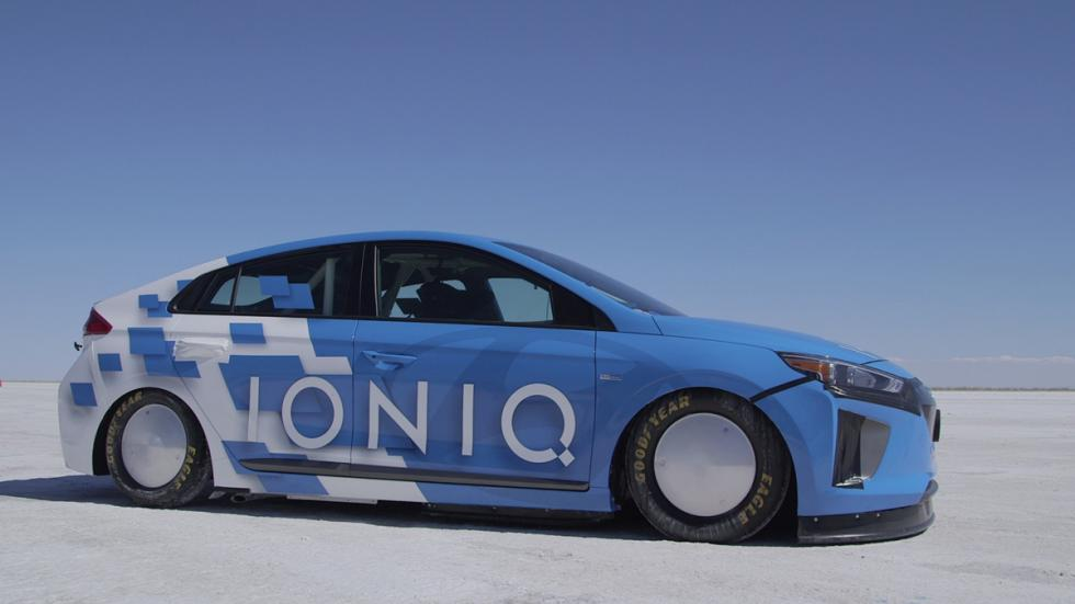 Hyundai Ioniq Hybrid récord velocidad lateral