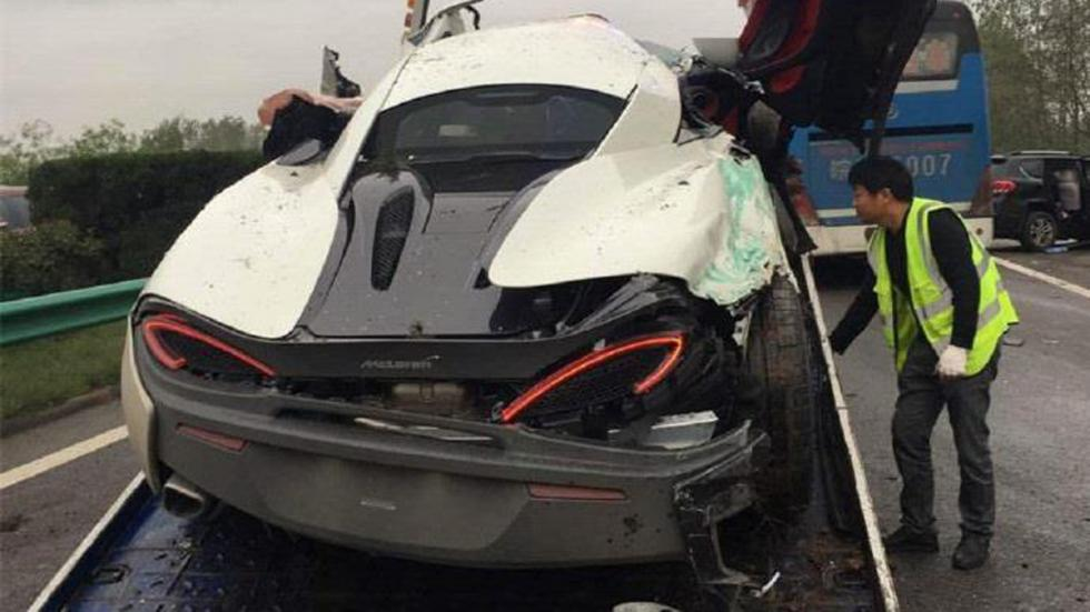 Accidente McLaren 570S China zaga