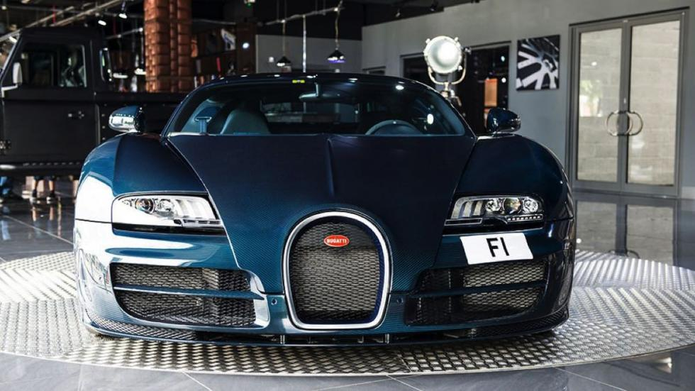 Bugatti Veyron Super Sport Blue Carbon frontal