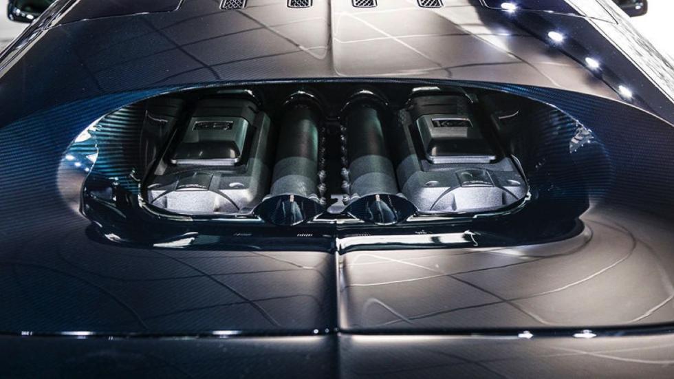Bugatti Veyron Super Sport Blue Carbon motor