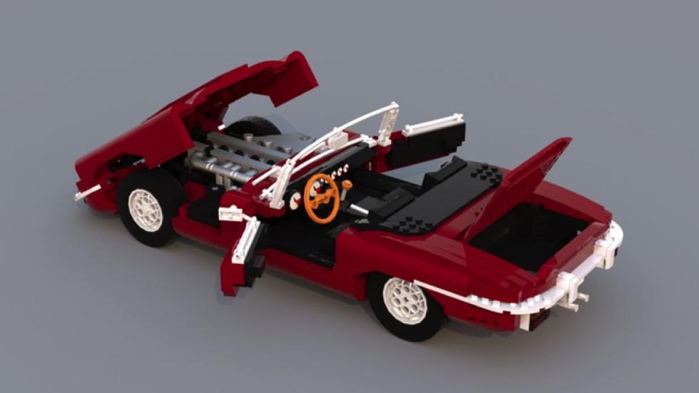 Jaguar E-Type de Lego desmontable