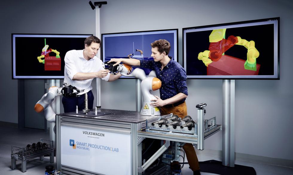 robot inteligente volkswagen maquina