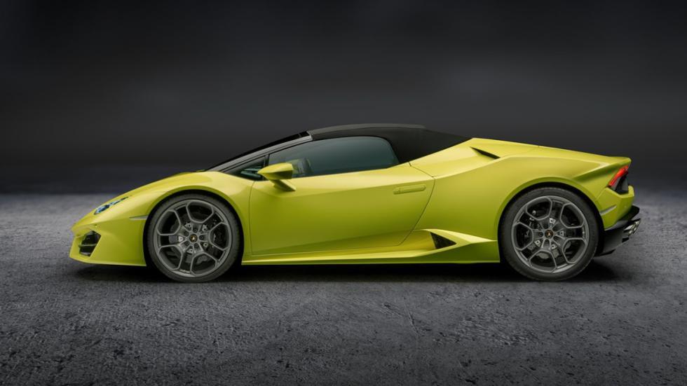 Lamborghini Huracán LP580-2 Spyder perfil capotado